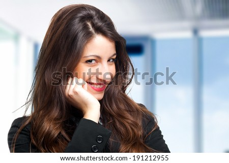 Beautiful young businesswoman portrait - stock photo