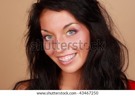 beautiful young caucasian woman