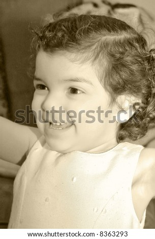 Beautiful young child portrait - stock photo