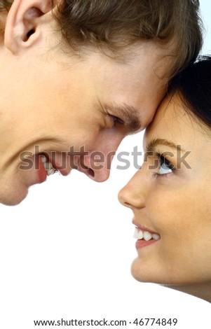 Beautiful young couple. - stock photo