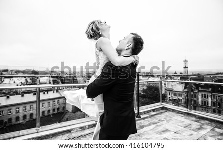 beautiful young couple spending time together - stock photo