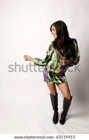 Beautiful Young Dancer - stock photo