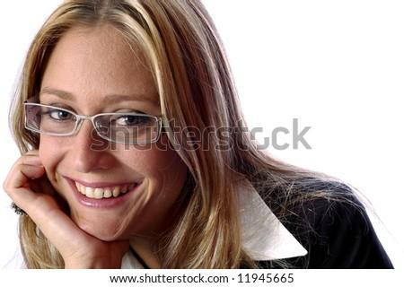 Beautiful young  Executive woman smalling - stock photo