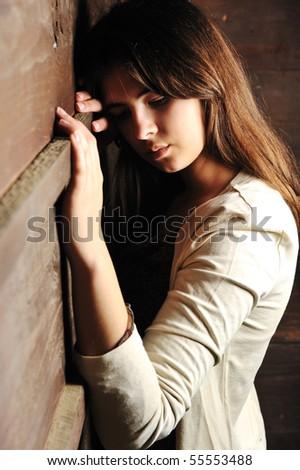 Beautiful young fashion female model - stock photo