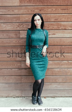 Beautiful Young Fashion Thin Pale Gothic Stock Photo (Download Now ...