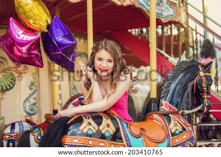cool real teenage girl candy near stock photo 516239239 shutterstock. Black Bedroom Furniture Sets. Home Design Ideas