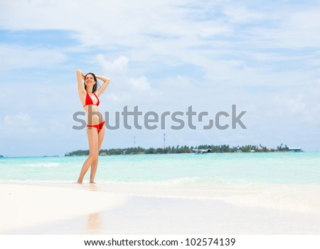 beautiful young girl on beach