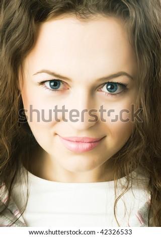 Beautiful Young Girl Portrait - stock photo