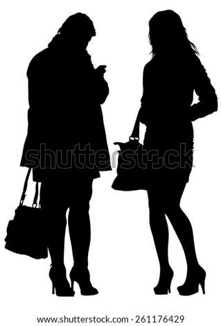 Beautiful young girls on white background - stock photo
