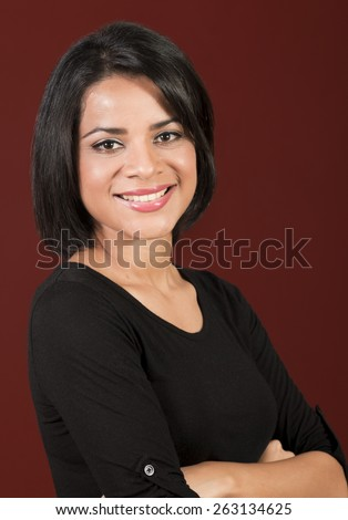 http://thumb7.shutterstock.com/display_pic_with_logo/1075748/263134625/stock-photo-beautiful-young-latin-woman-with-short-hair-smiling-263134625.jpg