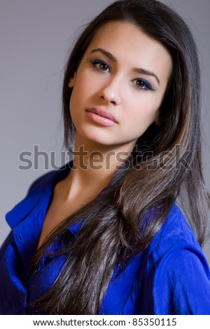 Beautiful young multicultural woman. - stock photo