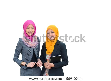 beautiful young muslim businesswoman  - stock photo