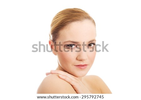Beautiful young sensual spa woman. - stock photo
