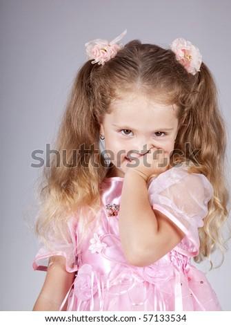Beautiful young smiling girl - stock photo