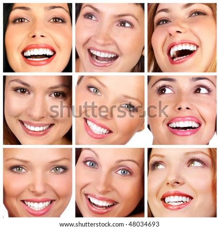 Beautiful young smiling woman. - stock photo