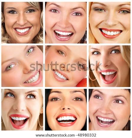 Beautiful young smiling woman. - stock photo