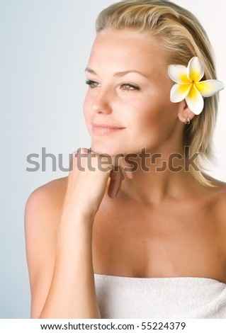 Beautiful Young Spa Woman portrait - stock photo