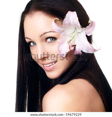 Beautiful Young Spa Woman portrait - stock photo