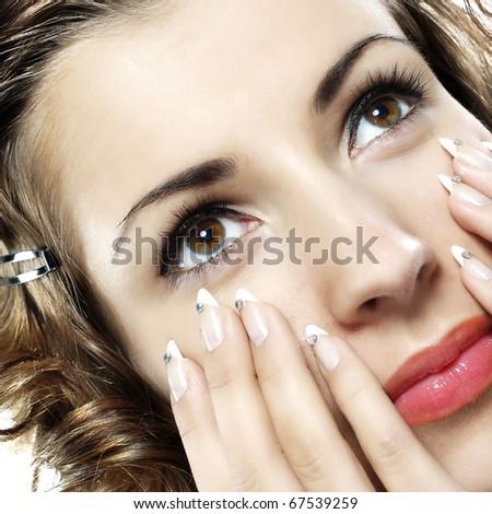 Beautiful young woman - stock photo