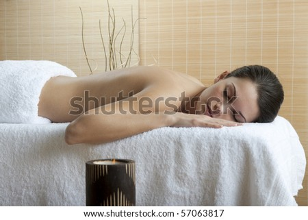 Beautiful young woman at Spa