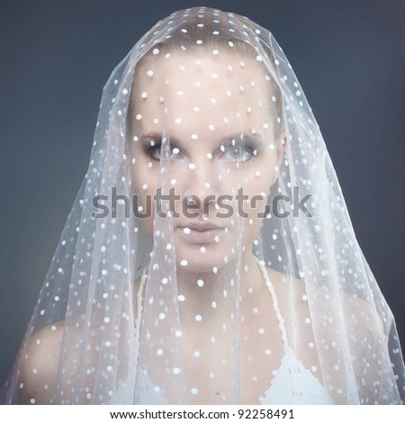Beautiful young woman. Bride.
