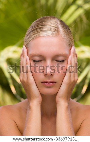Beautiful Young Woman Face - stock photo