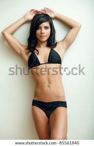 Beautiful young woman fashion - stock photo