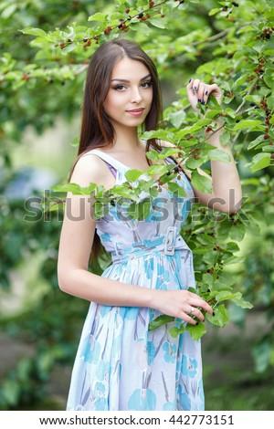 Preteen Girl Bunch Field Flowers Stock Photo 15363760