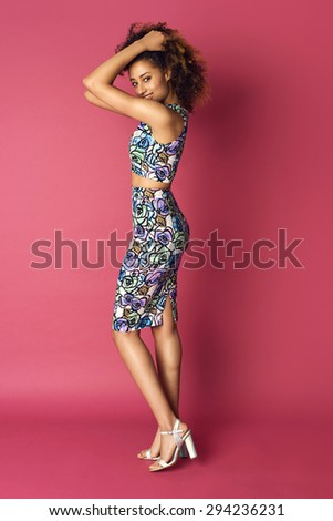 Beautiful young woman in nice dress. Fashion Photo