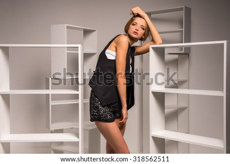Shelf brackets stock photos images pictures shutterstock - Beautiful photoshelves ...