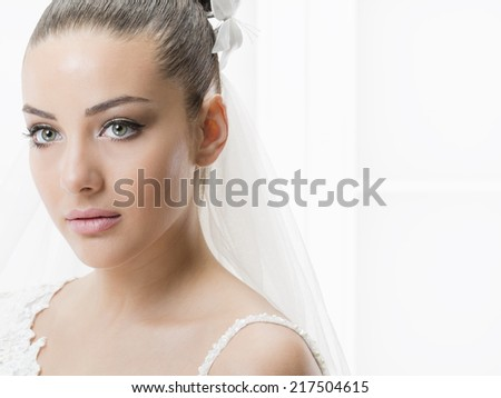 Beautiful young woman on her wedding day