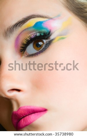 beautiful young woman  portrait closeup
