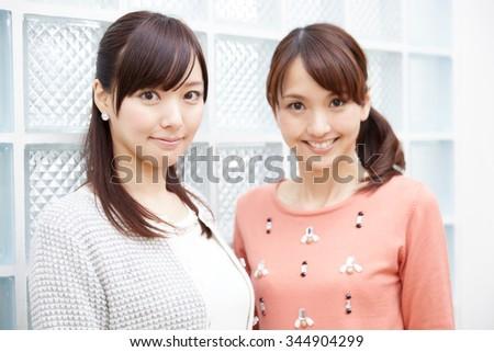 Beautiful young woman. Portrait of asian. - stock photo