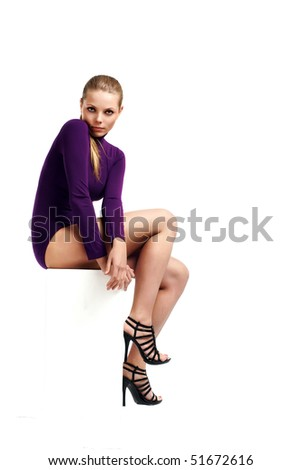 Beautiful young woman pose - stock photo