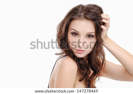 Beautiful young woman -Skin care concept