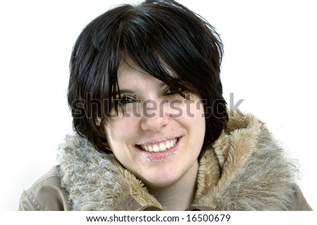 beautiful young woman smiling - stock photo