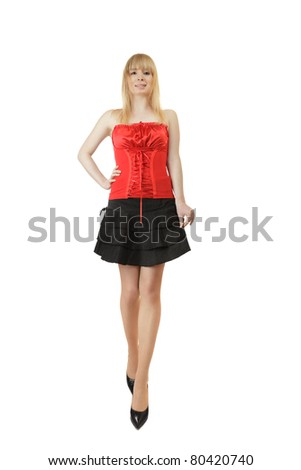 Beautiful young woman studio shot - stock photo