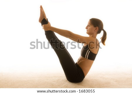 Beautiful young woman wearing workout clothes. - stock photo