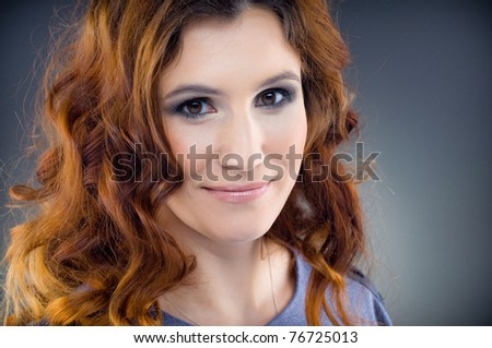 Beautiful young woman with fashion make-up