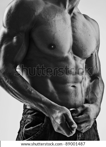 beautifull bodybuilder - stock photo