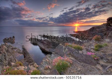 Beautifull coast of Ireland - stock photo