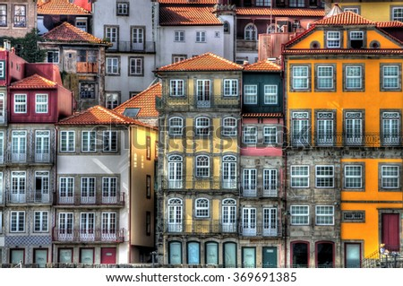 Beautifull view of Ribeira, Porto, Portugal