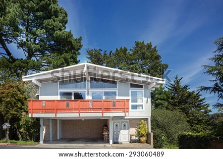 Beautifully craftsman style home. - stock photo