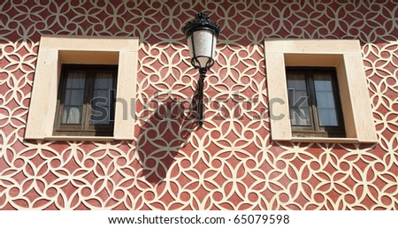 beautifully decorated facade, Spain - stock photo