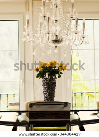 Beautifully decorated living room  - stock photo