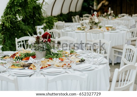 Decorated Tables Pleasing Elegant Wedding Reception Table Decor Centerpieces Stock Photo Inspiration