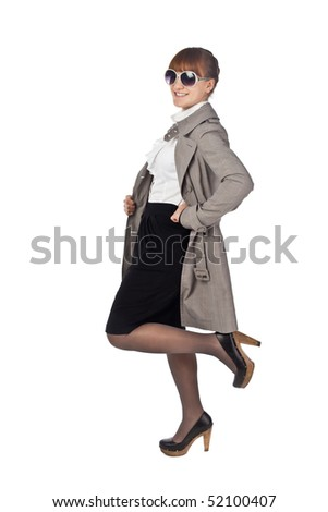 Beautigull girl posing fashion - stock photo