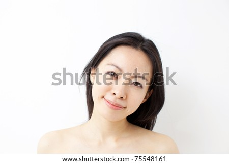 Beauty and health of young woman - stock photo