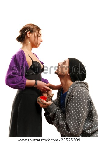 Beauty and the beast. - stock photo