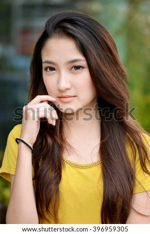 Beauty Asian (Thai) woman with smile face, Thailand  - stock photo